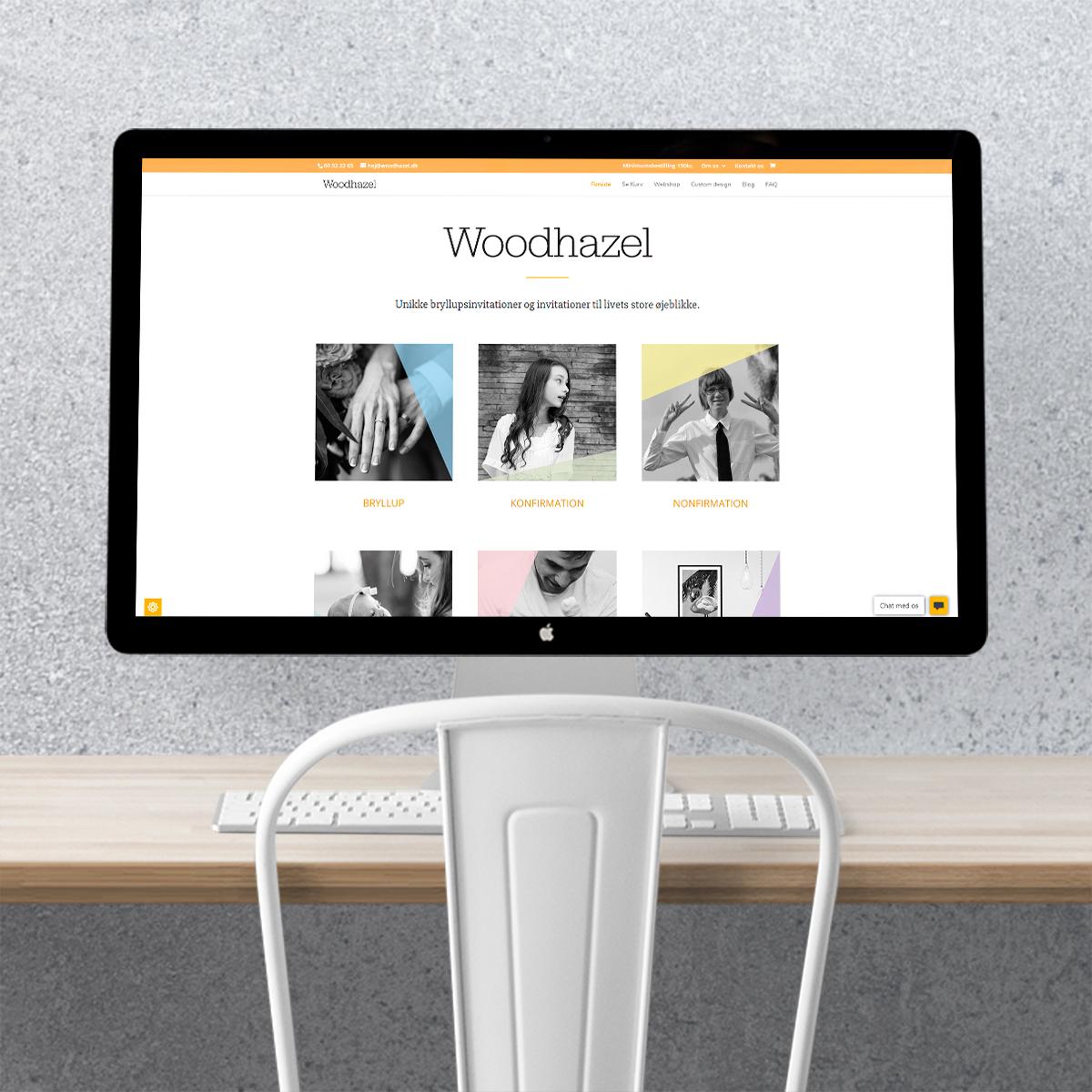 Design af hjemmeside til Woodhazel lavet af Little Creature Ink